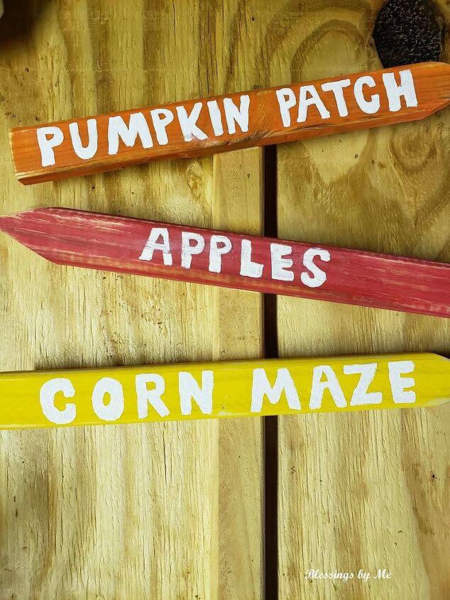 pumpkin patch sign fall porch decor