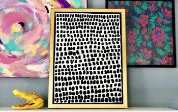 Anthropologie Pointillism Wall Art Hack