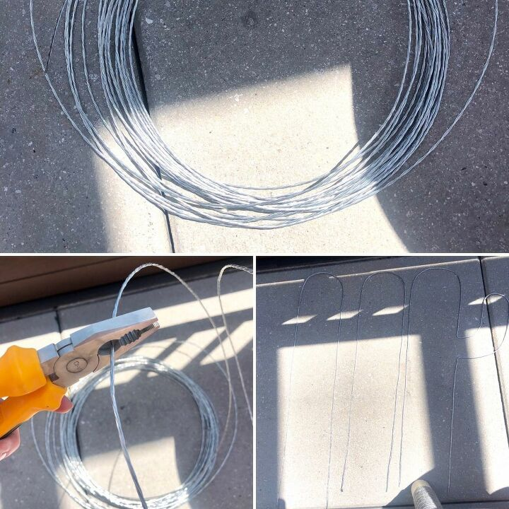 wire and cement cactus