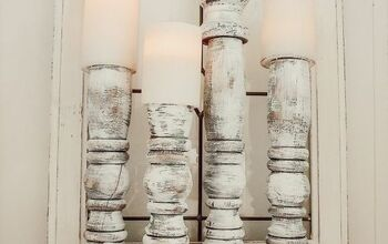 Wooden Candle Sticks From Table Legs