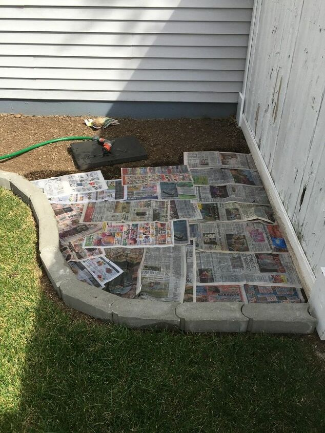 Newpaper to help prevent weed growth
