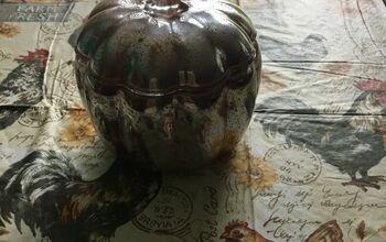 A Plain Glass Pumpkin to a Mercury Glass Stunner