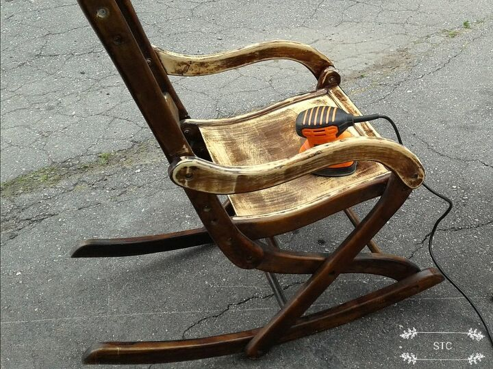 Stupendous How To Make A Rocking Chair Trash To Treasure Makeover Diy Bralicious Painted Fabric Chair Ideas Braliciousco