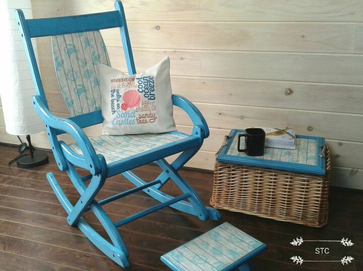 rocking chair trash to treasure makeover