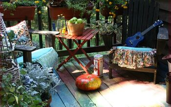 How to Paint a Deck in Boho Rainbow Colors
