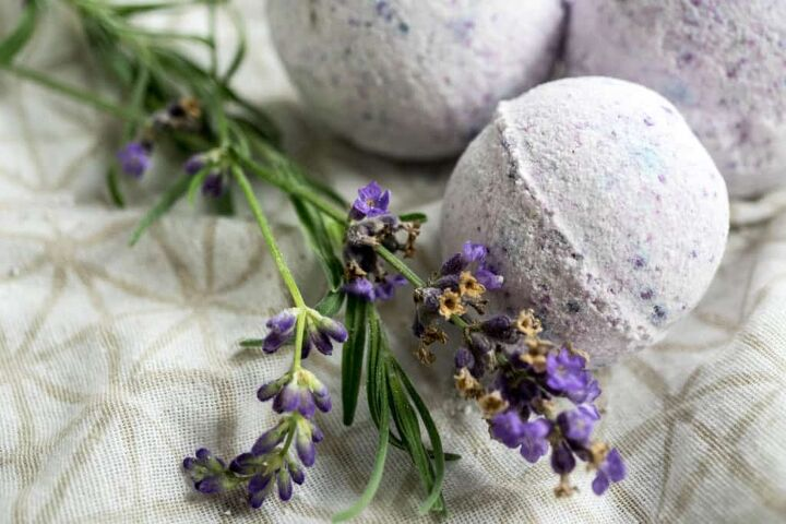 s 14 all natural soaps sprays cleaning supplies, Lavender Vanilla Essential Oil Bath Bombs