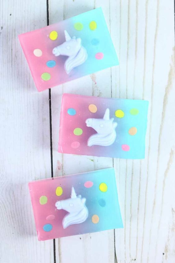 s 14 all natural soaps sprays cleaning supplies, Unicorn Melt and Pour Soap