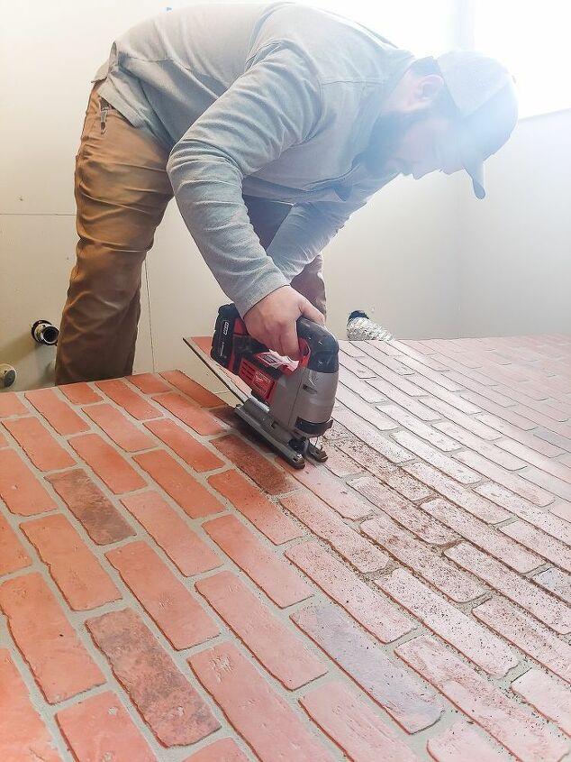 how to german schmear faux brick panels