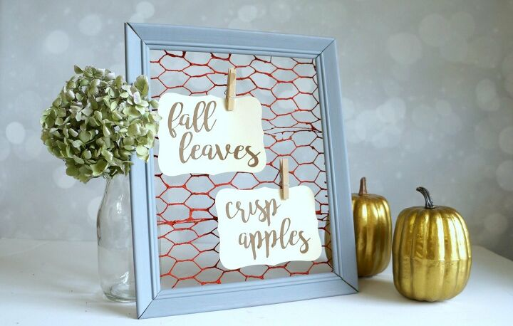 s 10 signs frames artwork you can make in just one day, Faux Chicken Wire Frame