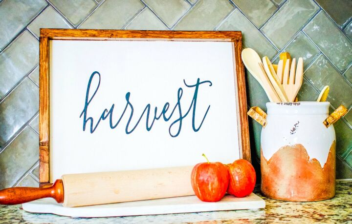 s 10 signs frames artwork you can make in just one day, Fall Wood Sign