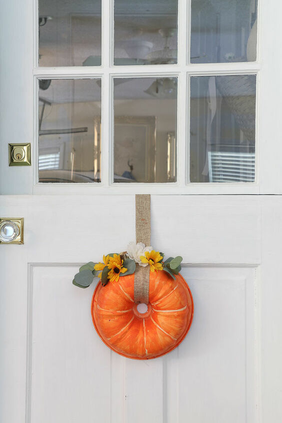 diy pumpkin bundt pan fall wreath