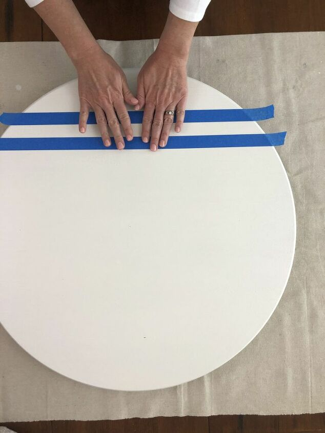 make your own oversized chalkboard lazy susan