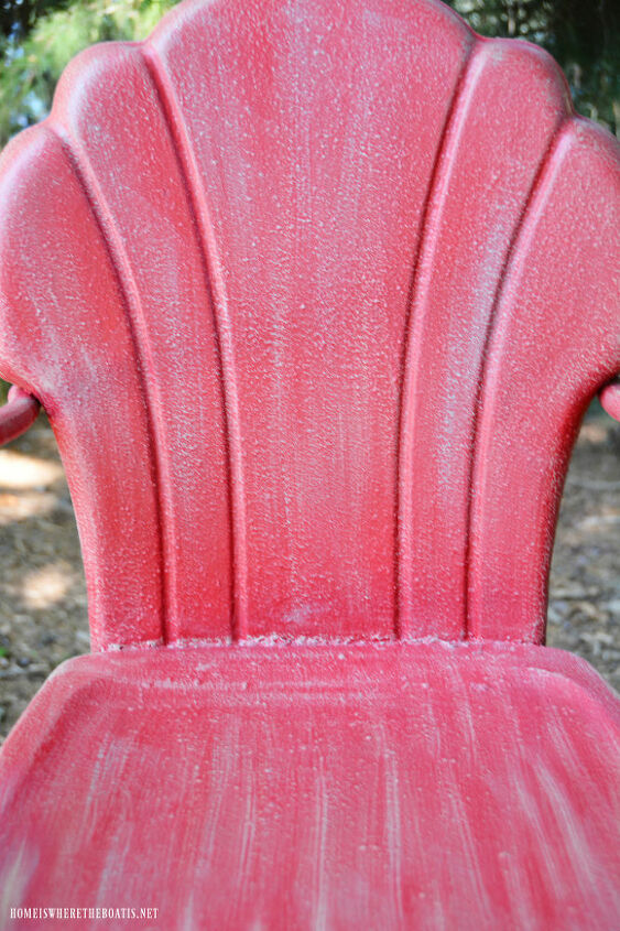 Vintage metal chair refreshed with paint