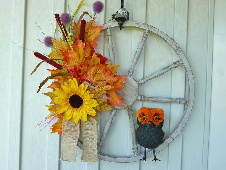 Our first autumn wreath