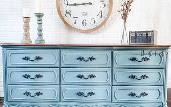Blended Blue French Provinvial Dresser Makeover