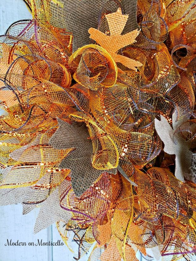 diy fall wreath from dollar tree supplies