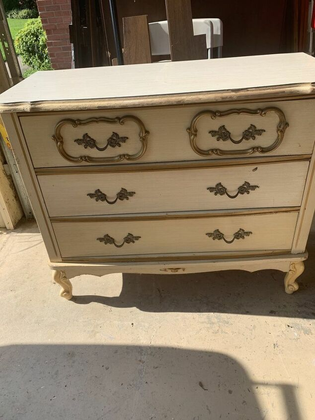 French Provincial chest before