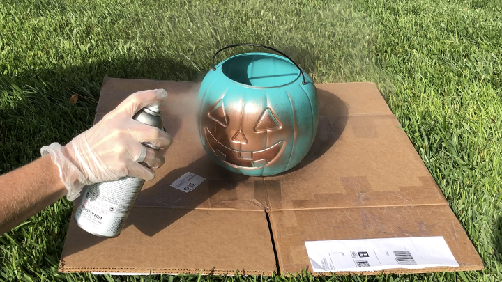 5 plastic pumpkin bucket makeovers