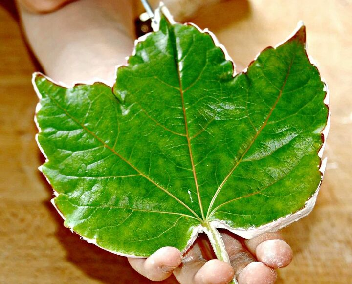 how to make beautiful air dried clay leaves