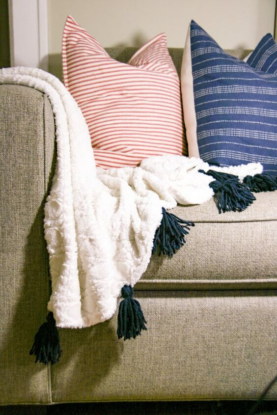 s 14 ways to make you home a cozy oasis, Make a comfy tassel throw blanket