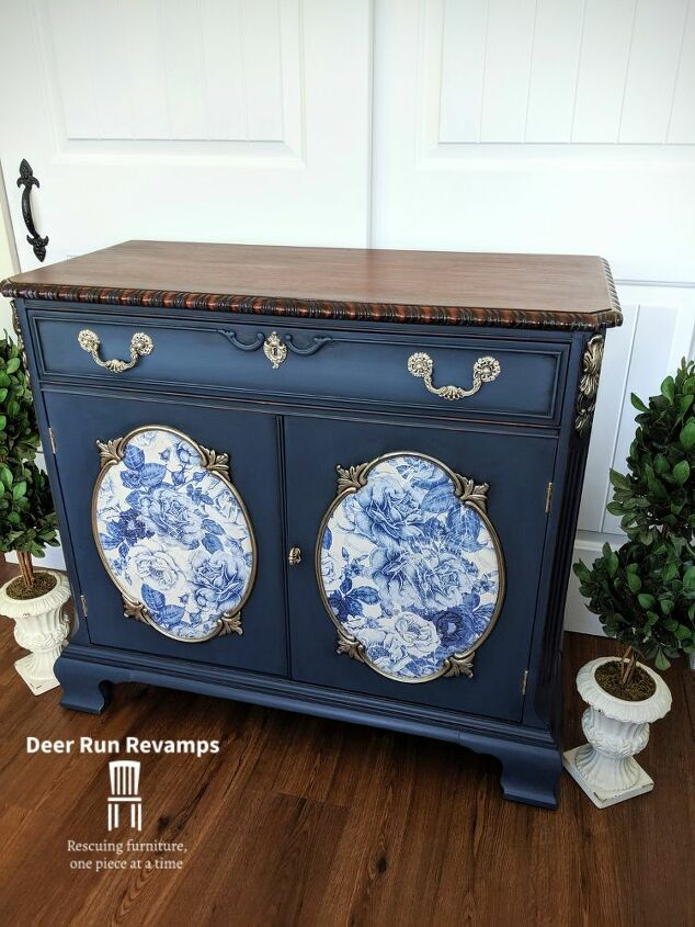 cabinet buffet sideboard makeover from boring to traditionally elegant