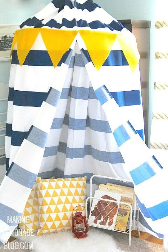 s 14 cool projects that you can totally do this weekend, Be a rockstar to your kids in under an hour with this fun play canopy