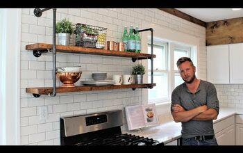 Modern Farmhouse Pipe Shelves