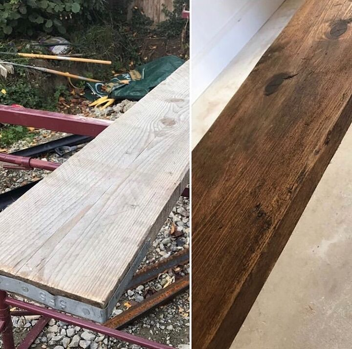 Shelves Out of Scaffolding Boards DIY