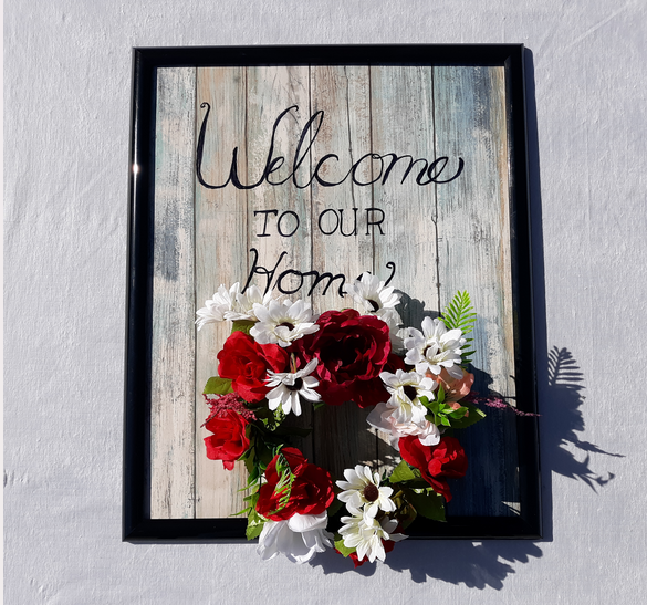 interchangeable for holidays ez welcome sign