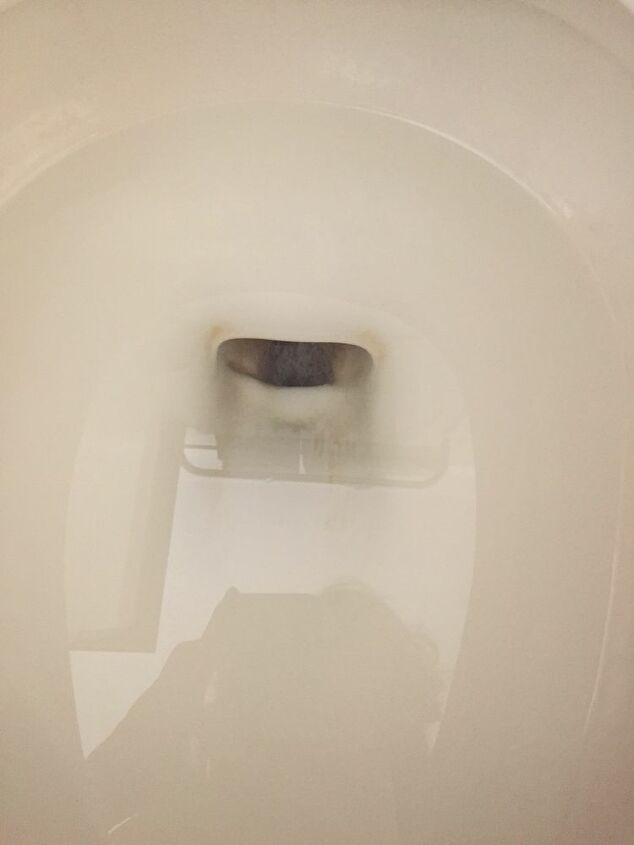 q how do i clean a stained wc bowl