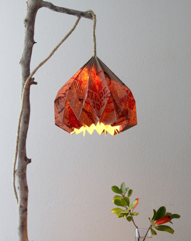 s 14 pendant lighting ideas that you have to try, Pendant lamp made from a Trader Joe s paper bag