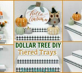 How To Make Dollar Tree Diy Buffalo Check Plaid Tiered Trays Farmhouse Style Hometalk