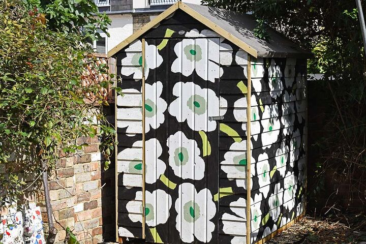 how to paint a designer shed