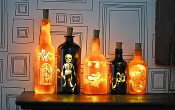 Upcycled Fun Halloween Bottle Lights