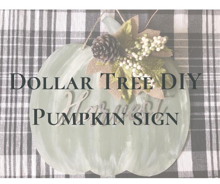 dollar tree pumpkin sign diy