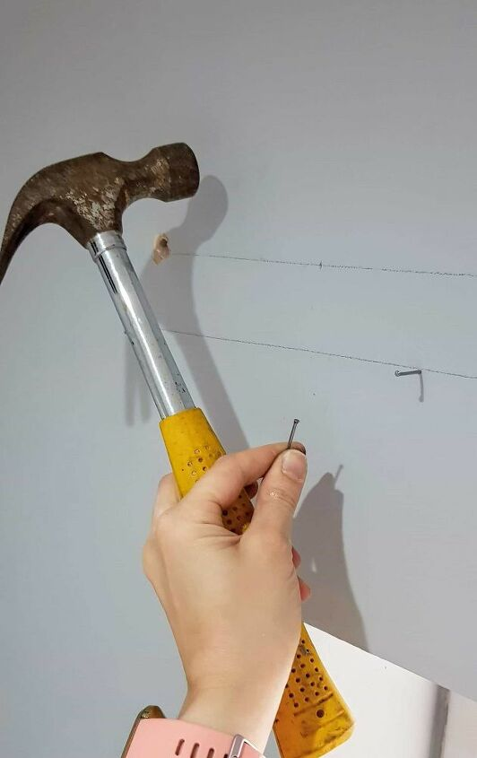 how to put up a curtain pole batten with grab adhesive