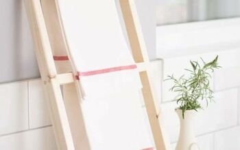 DIY Countertop Kitchen Tea Towel Ladder