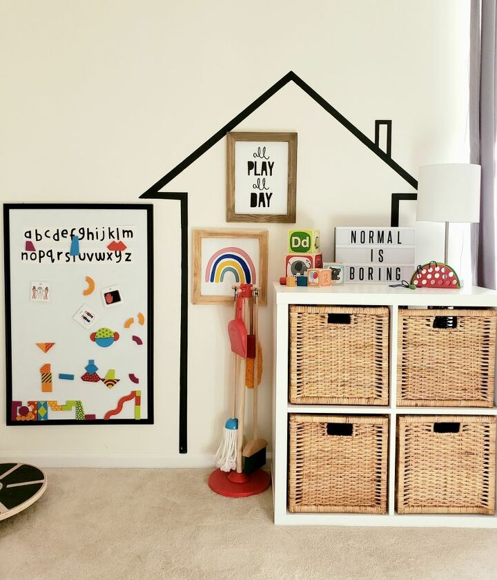 kids playroom painted house wall decal