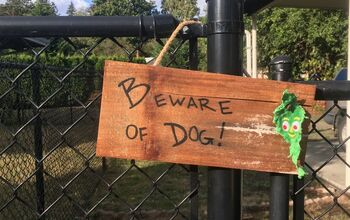 Chewed Dog Toy Sign