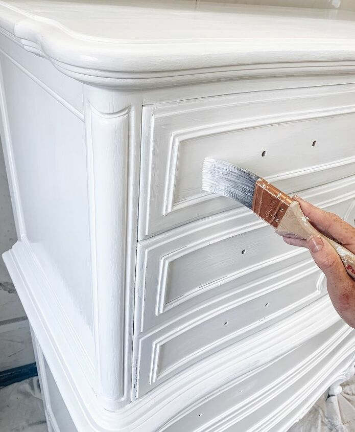 how to paint a dresser a modern white