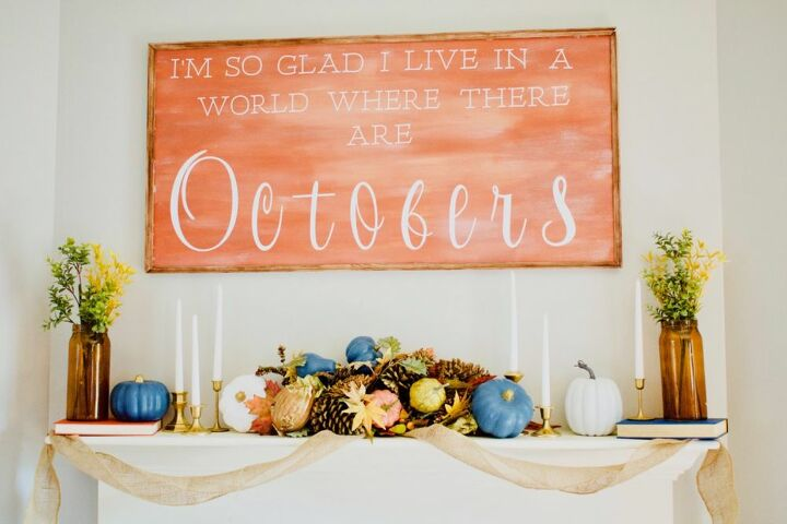 diy large fall wooden sign