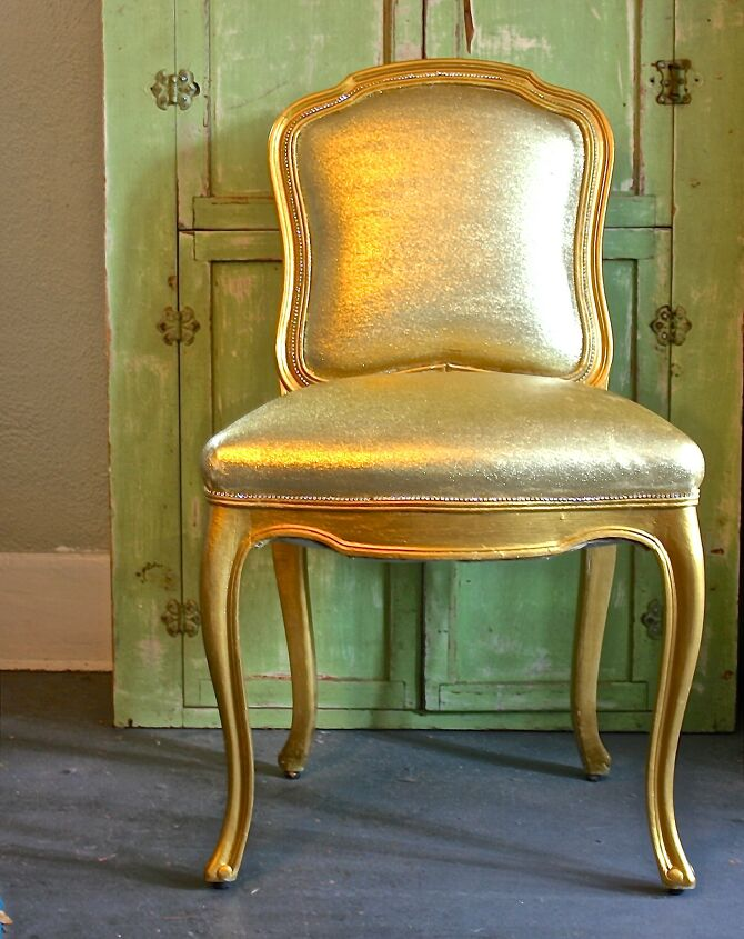 painted living room chair