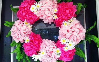 Paper Pom Pom Wreath – A Keepsake for a Friend!