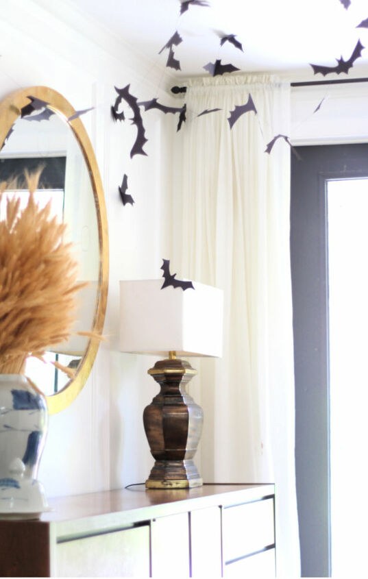 diy bat garland halloween decoration