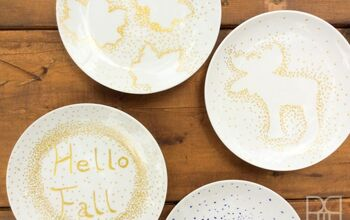 DIY Fall Themed Plates