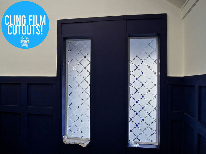 cling film cutout privacy window