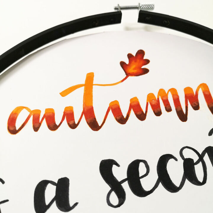 hand lettering wall decoration