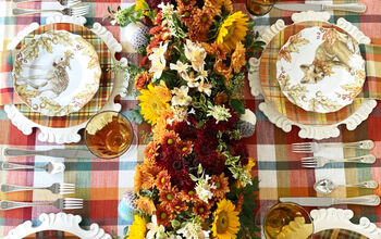 DIY Fresh Floral Table Runner for Fall