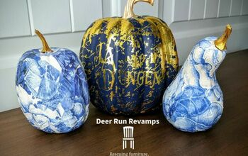 Elegant Foam Pumpkin Makeover Just In Time For Fall