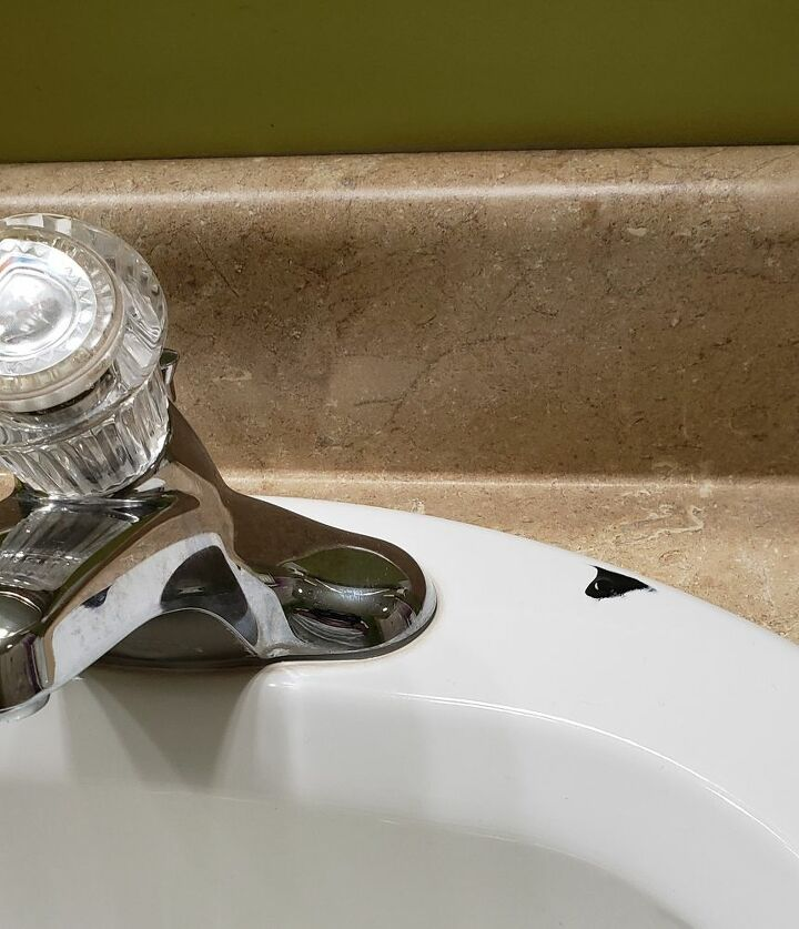 q repair chip in porcelain sink